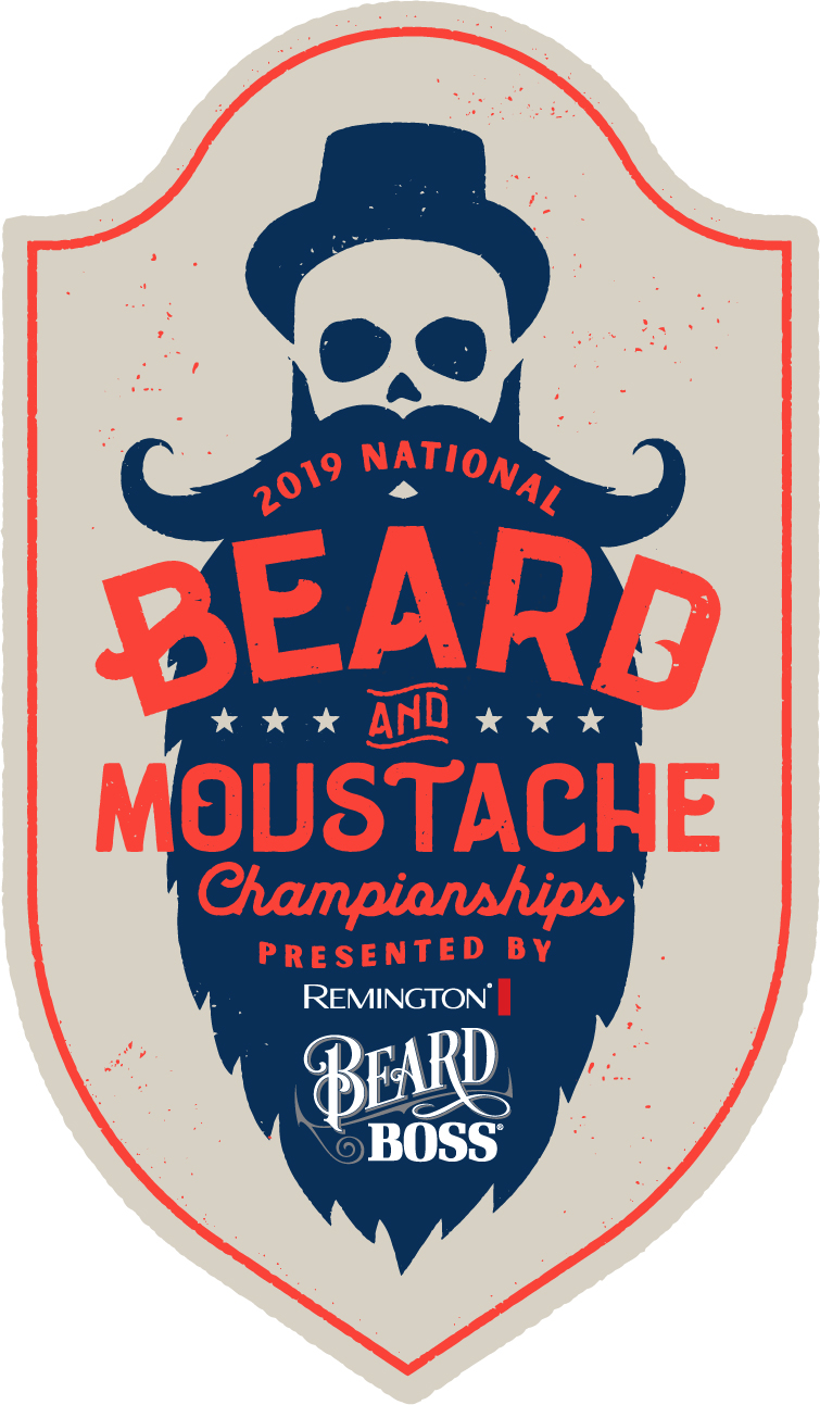 2019 national beard and mustache championships. Presented by Remington Beard Boss.