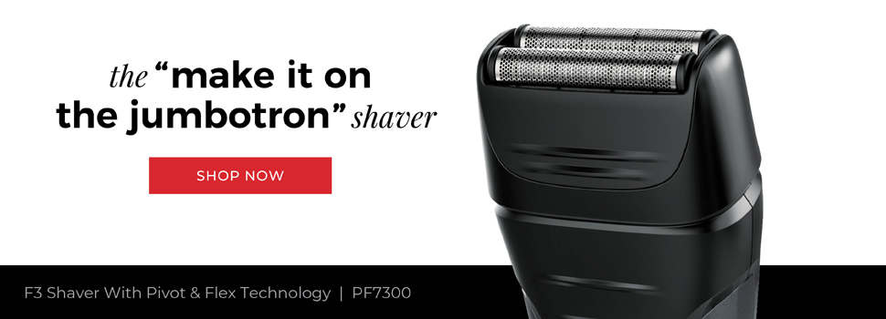 Remington Outdo The Day. The 'make it on the jumbotron' shaver. F3 Shaver With Pivot & Flext Technology | PF7300