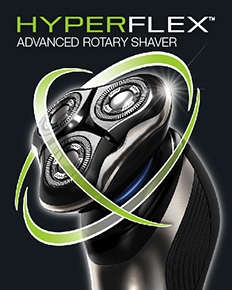 Hyperflex advanced rotary shaver