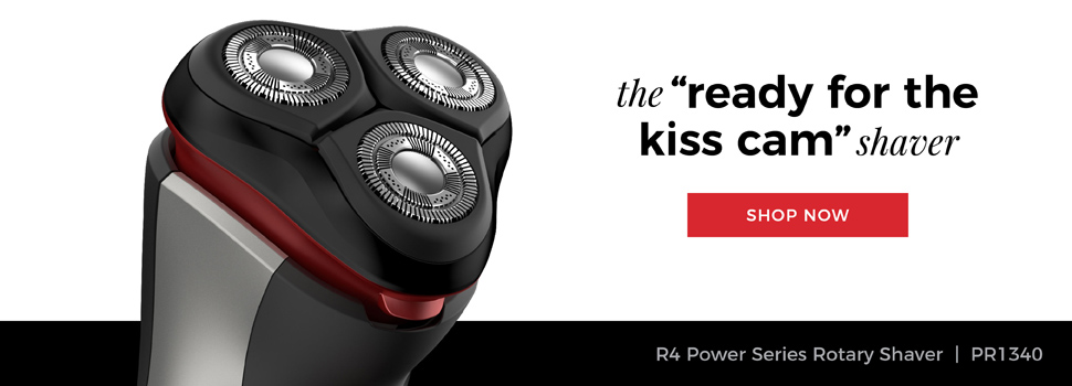 Remington Outdo The Day. The 'ready for the kiss cam' shaver. R4000 Series Rotary Shaver | PR1340