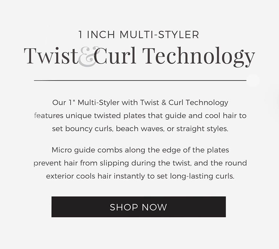 1 Inch Multi-Styler with Twist&Curl Technology. The REMINGTON® Pro 1 inch Multi-Styler with Twist & Curl Technology features unique twisted plates that guide and cool hair to set bouncy curls, beach waves, or straight styles. Micro guide combs along the edge of the plates prevent hair from slipping during the twist, and the round exterior cools hair instantly to set long-lasting curls. Shop Now.