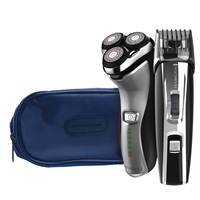 R4 Rotary Shaver with shaver pouch and Precision Power Beard, Goatee, & Stubble Trimmer